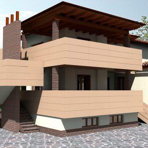 Rendering - Casa - studio per ampliamento