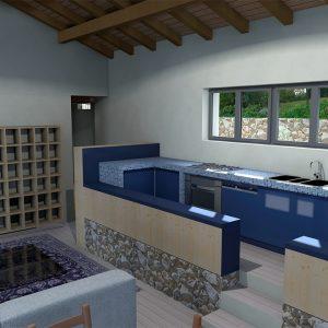Rendering - Studio per cucina