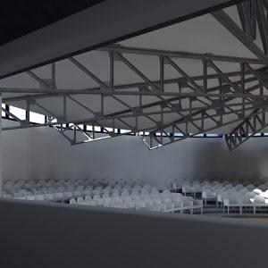Rendering - Particolare auditorium