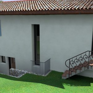 Rendering - Casa in collina